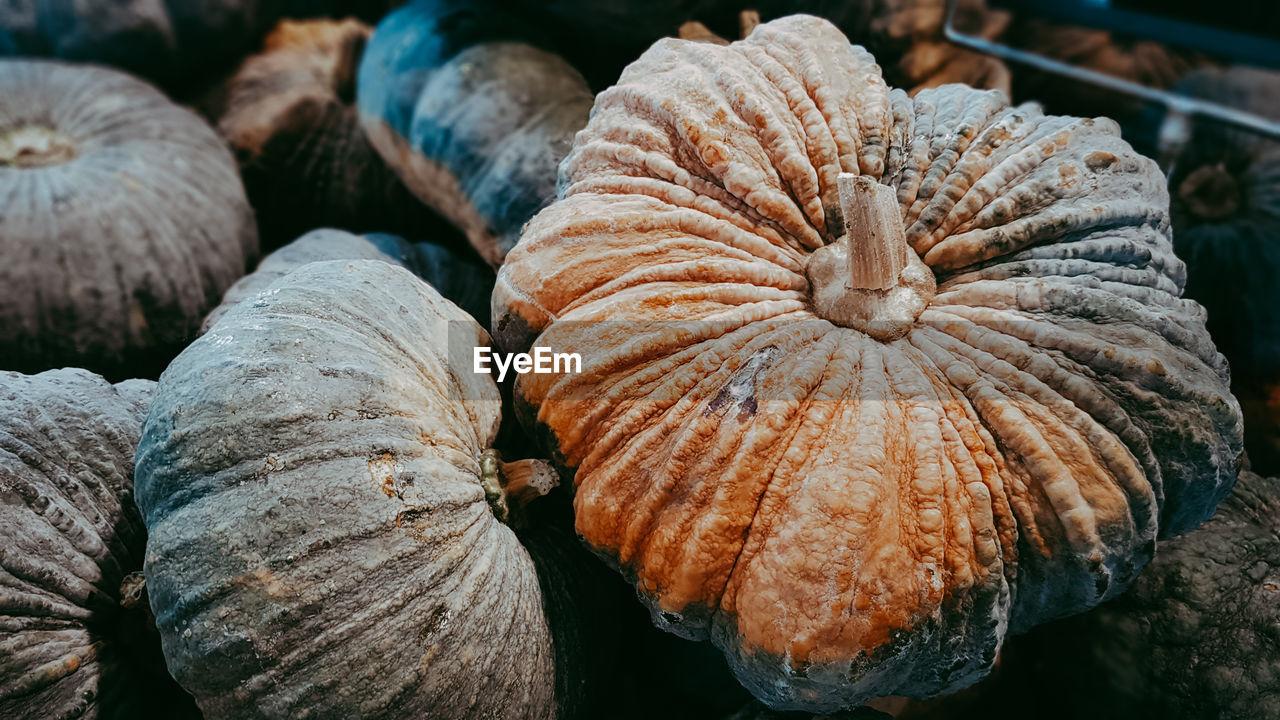 Full Frame Shot Of Pumpkins For Sale In Market