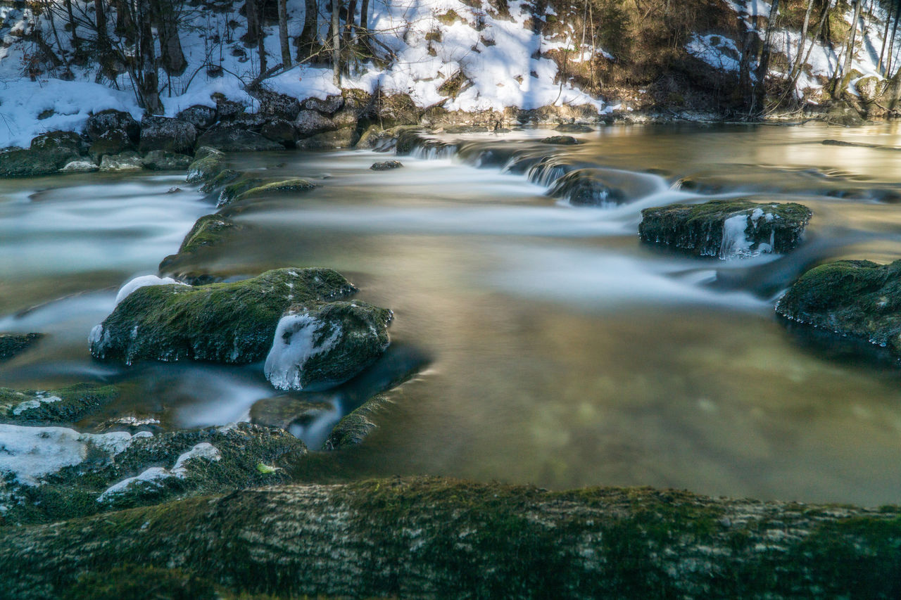 water, rock, solid, nature, day, rock - object, no people, motion, blurred motion, beauty in nature, long exposure, tree, flowing water, scenics - nature, outdoors, plant, forest, sea, tranquility, stream - flowing water, flowing