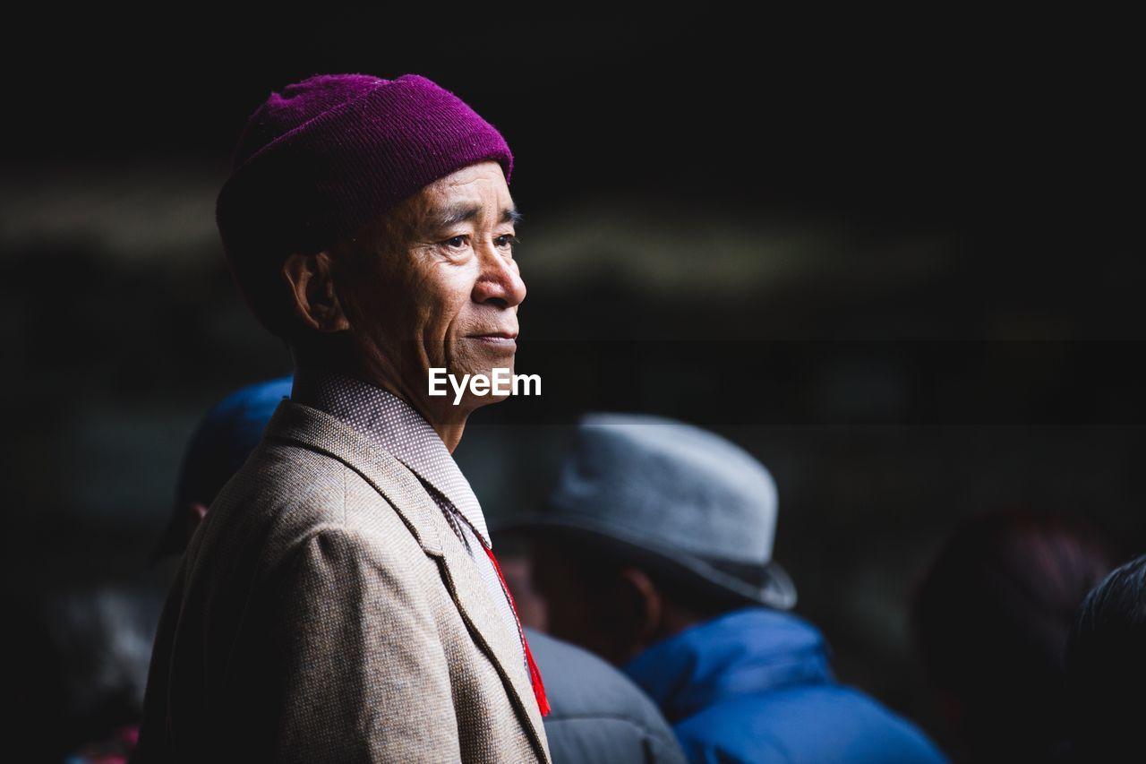 Close-Up Of Senior Man