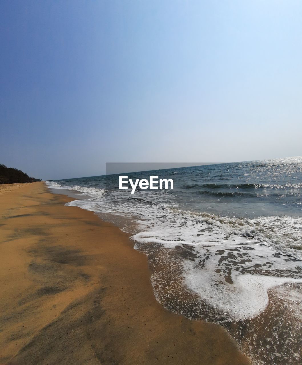 VIEW OF BEACH AGAINST CLEAR SKY