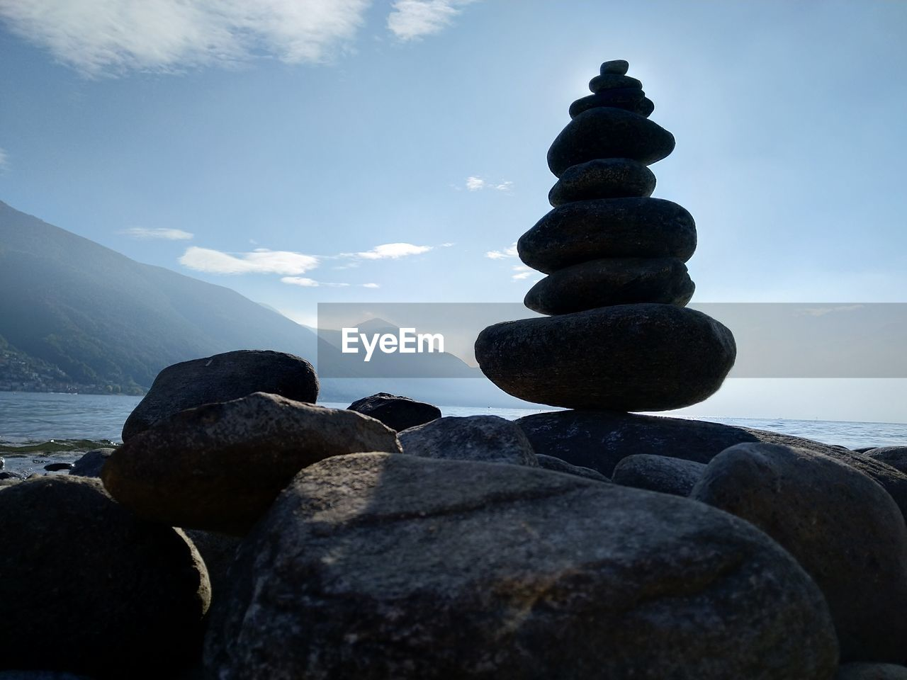 rock, solid, balance, stone - object, rock - object, stack, sky, pebble, stone, zen-like, tranquility, beauty in nature, nature, sea, tranquil scene, scenics - nature, no people, water, beach, outdoors