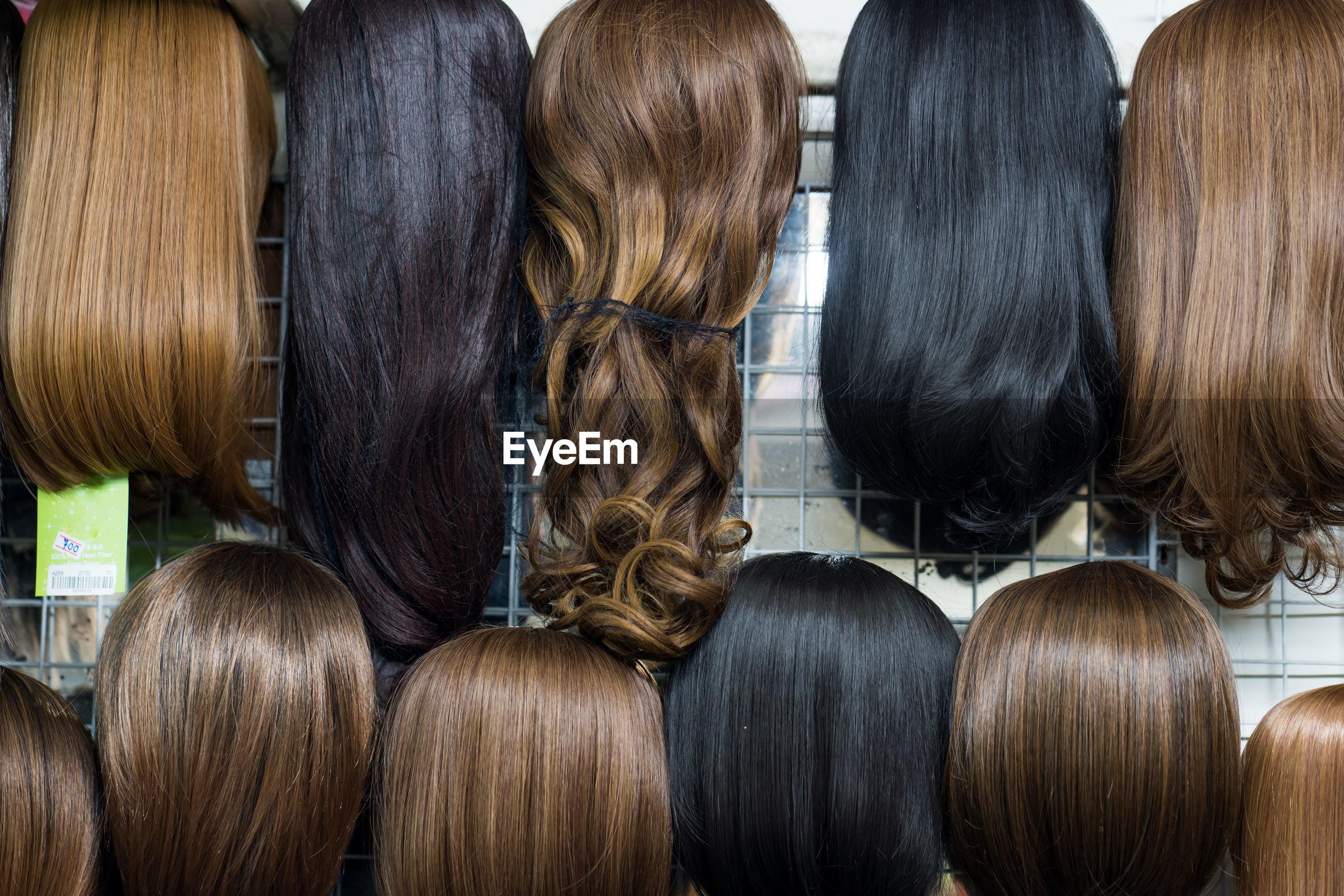 Hair arranged for sale