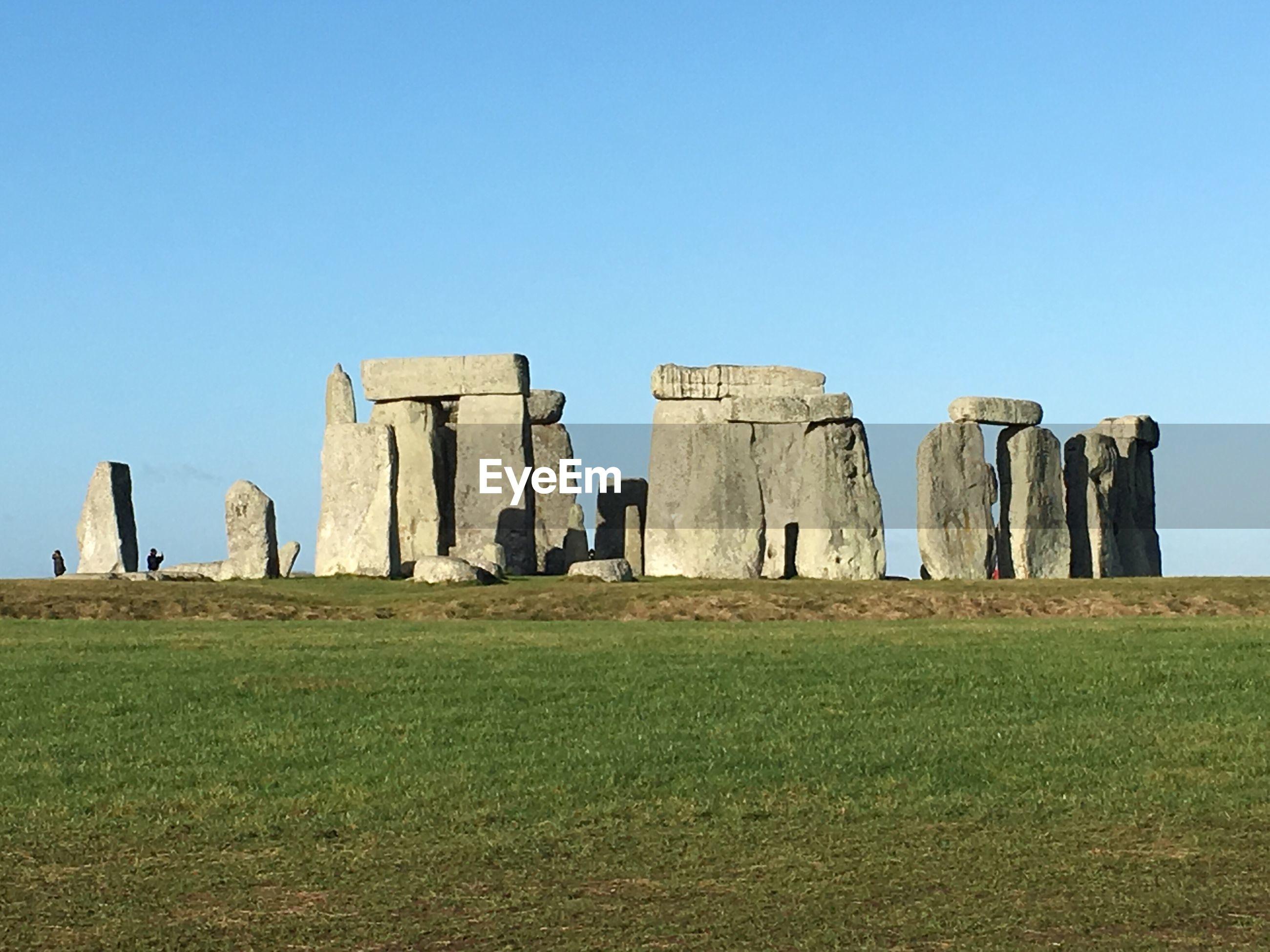 Stonehenge against clear sky