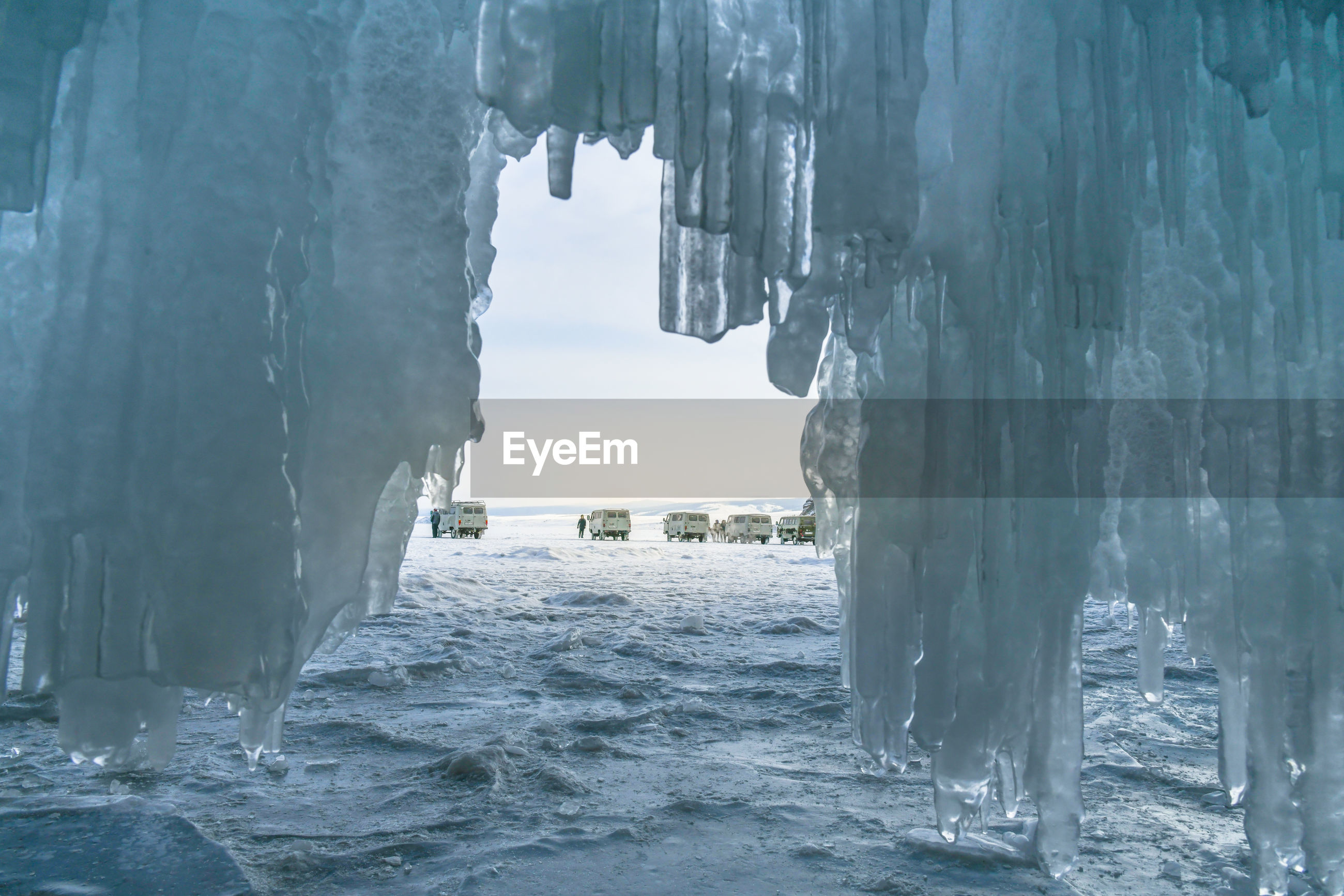 PANORAMIC VIEW OF FROZEN SEA
