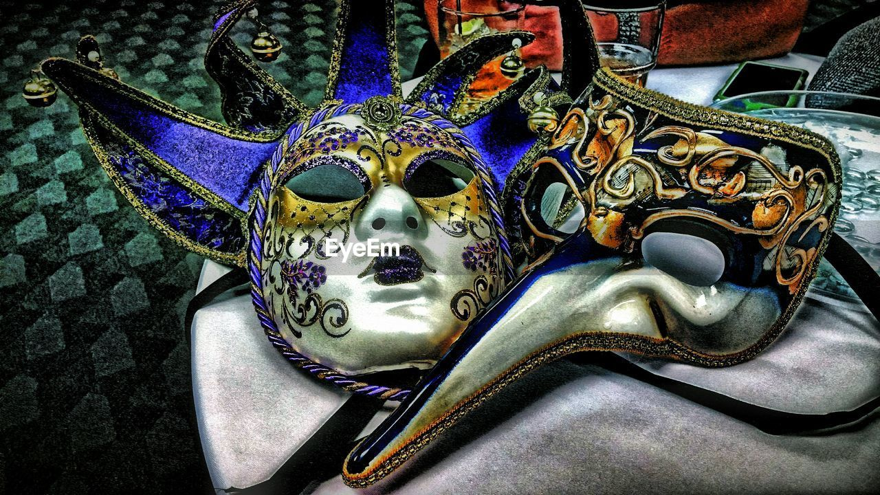 mask - disguise, venetian mask, carnival - celebration event, ornate, costume, cultures, tradition, carnival, disguise, day, outdoors, no people, close-up