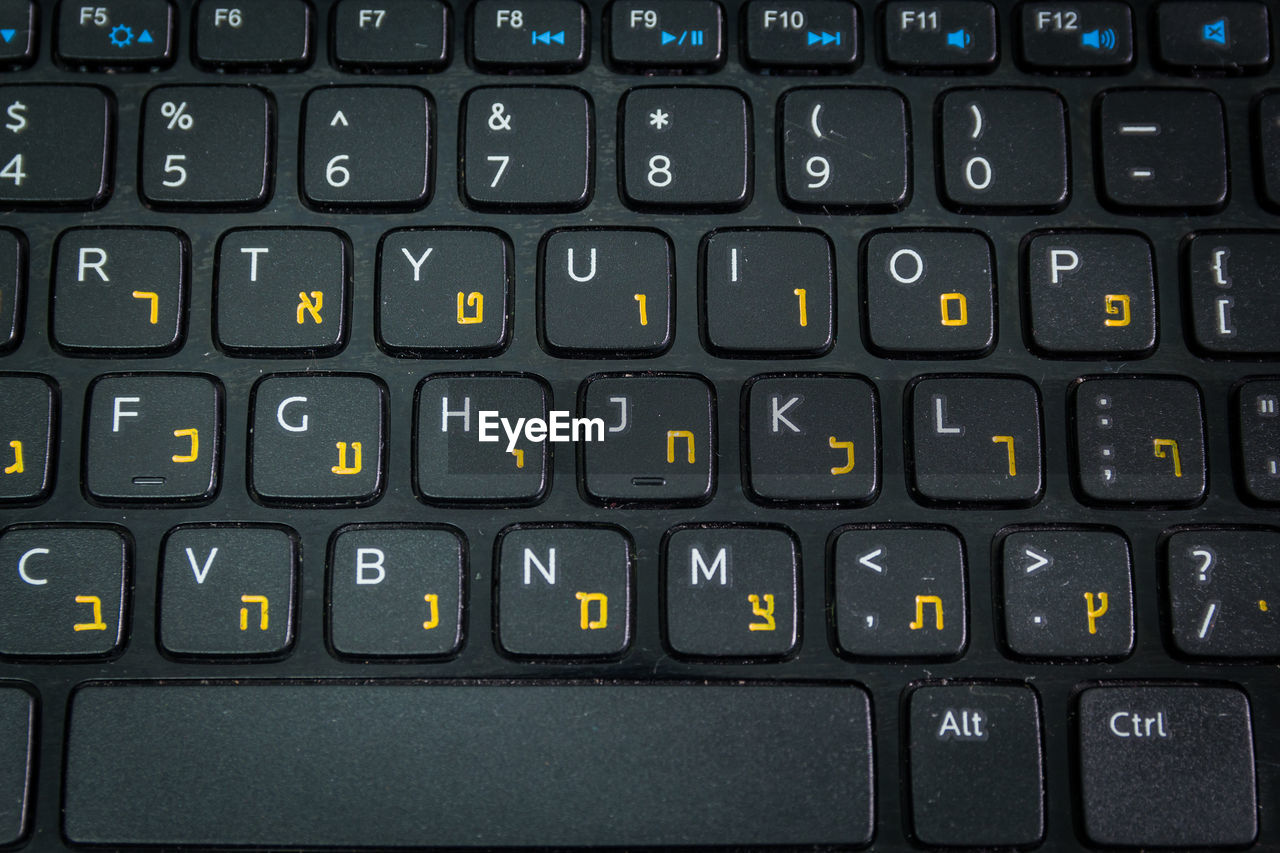 communication, text, backgrounds, full frame, technology, no people, letter, computer, close-up, connection, computer equipment, indoors, side by side, alphabet, western script, computer keyboard, number, black color, capital letter, keyboard, computer key, push button
