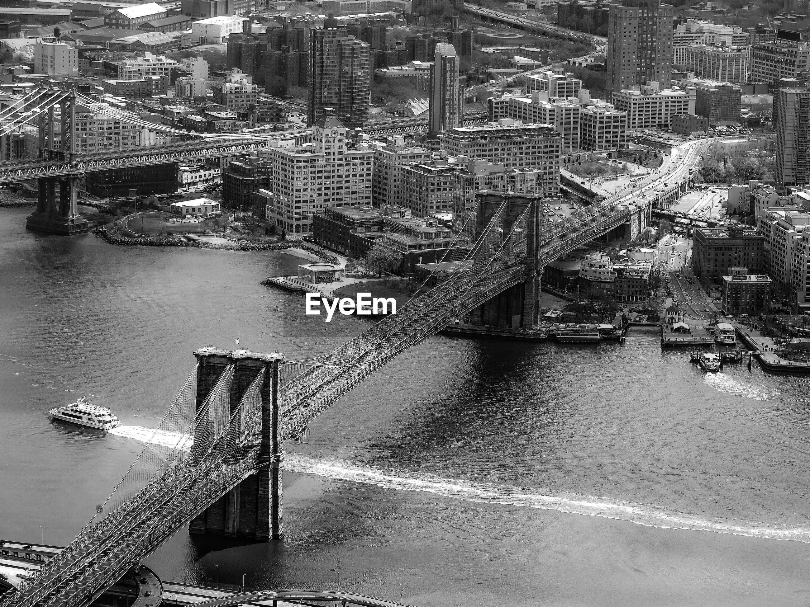 View of bridges in new york