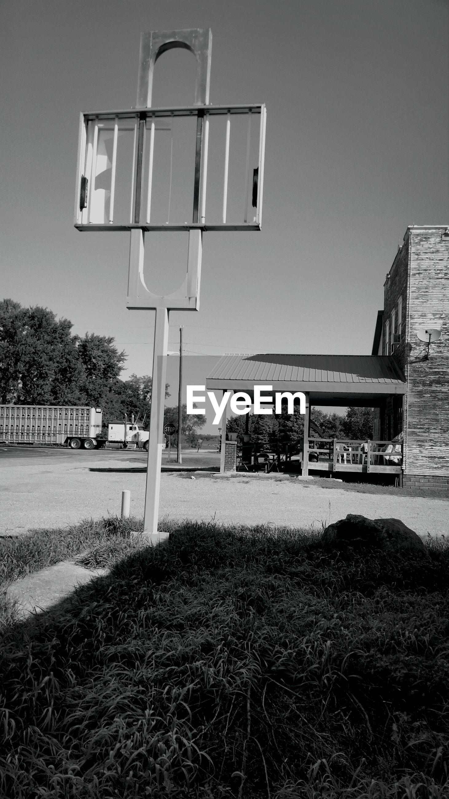 Empty billboard on street