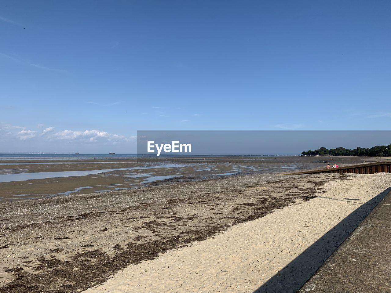 water, sea, sky, beach, land, scenics - nature, beauty in nature, sand, tranquility, horizon, nature, tranquil scene, sunlight, day, horizon over water, idyllic, blue, non-urban scene, cloud - sky, outdoors, no people