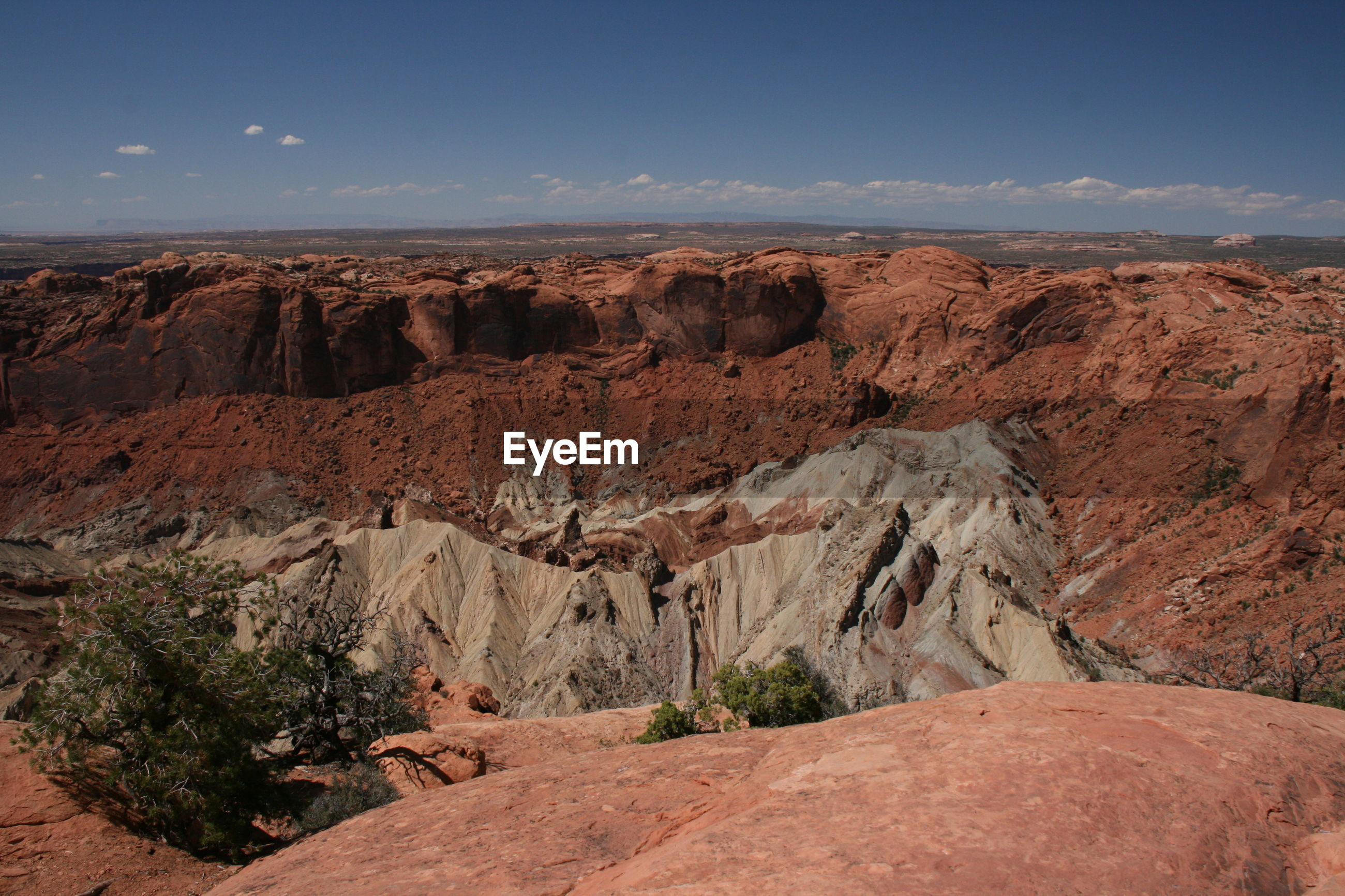 Idyllic shot of dramatic landscape against sky at arches national park