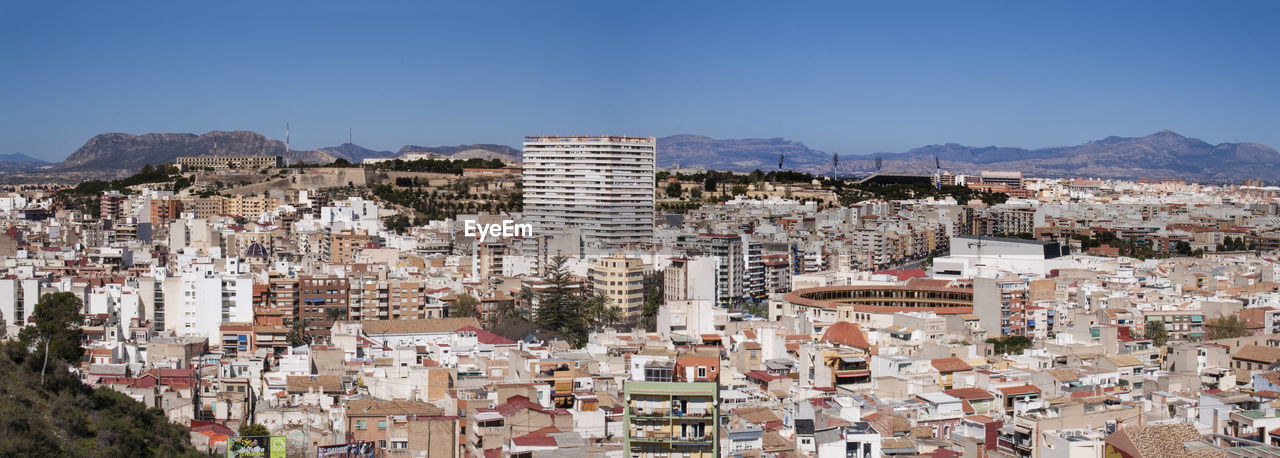 Panoramic View Of Cityscape Against Clear Sky