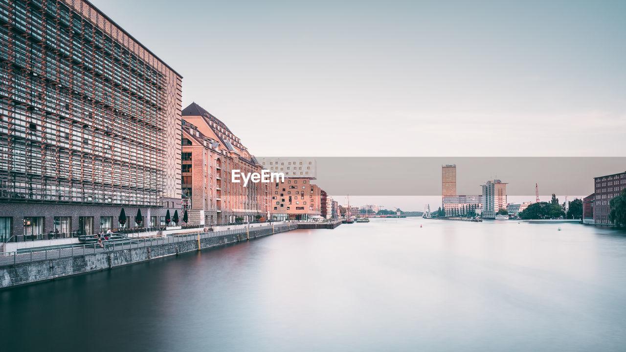 Buildings Along Spree River In Berlin