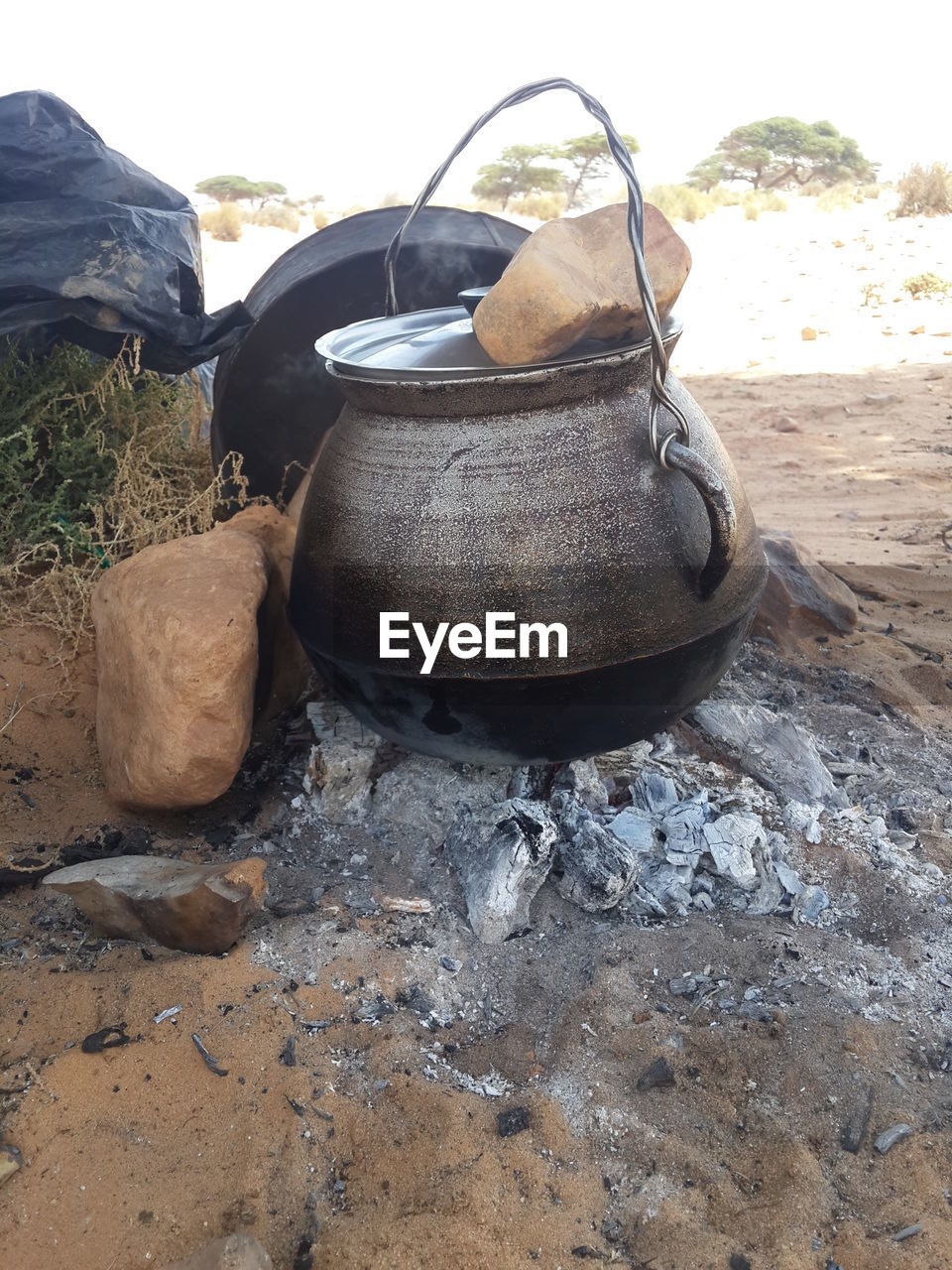 no people, day, preparation, camping stove, outdoors, stove, close-up, food