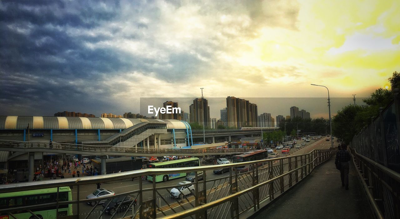 city, modern, architecture, urban, sky, skyscraper, bridge, cityscape, outdoors, people