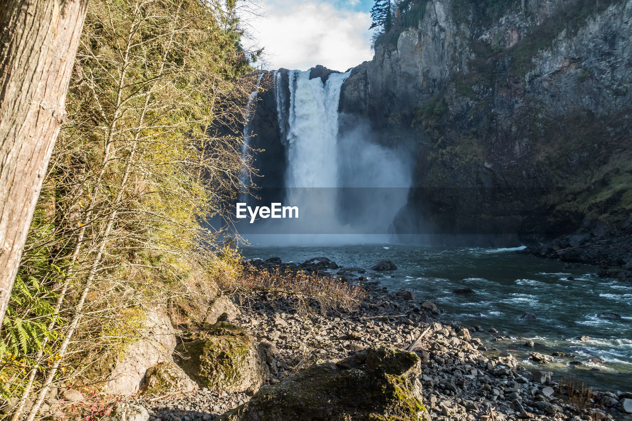 water, beauty in nature, rock, scenics - nature, motion, long exposure, waterfall, rock - object, flowing water, nature, solid, power in nature, rock formation, sea, power, non-urban scene, no people, flowing, land, outdoors, falling water