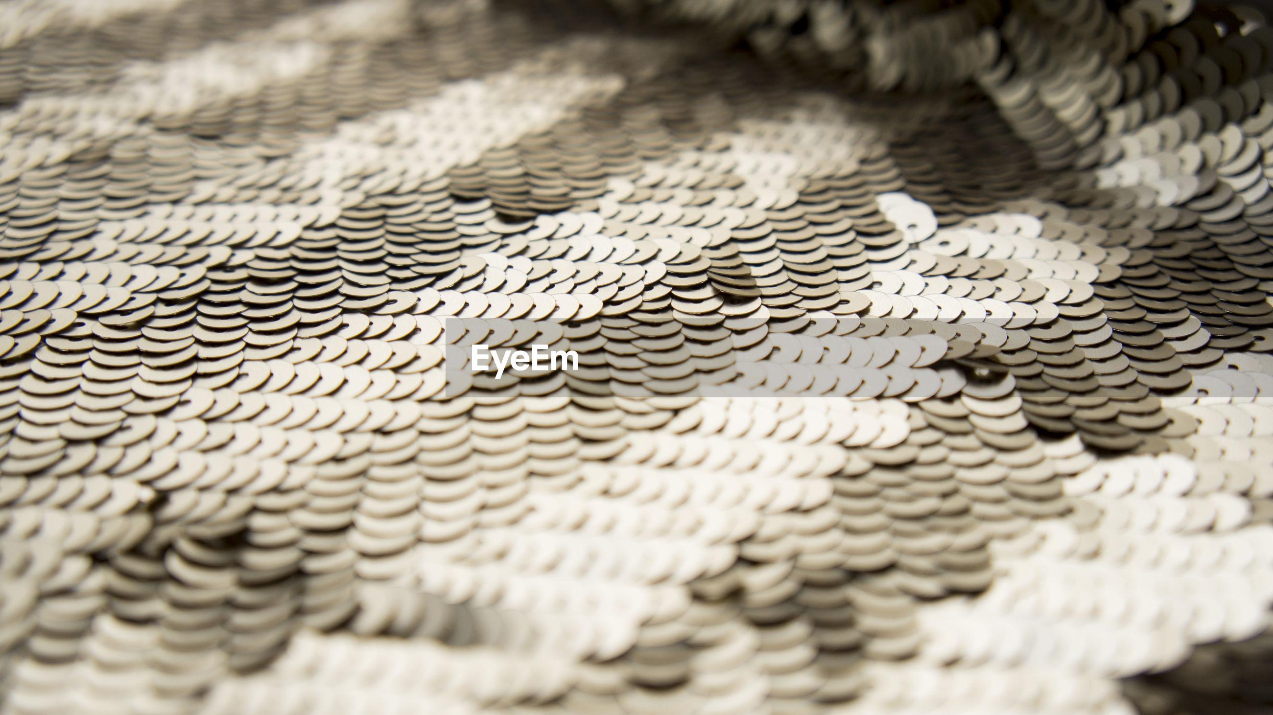 Full frame shot of sequins fabric