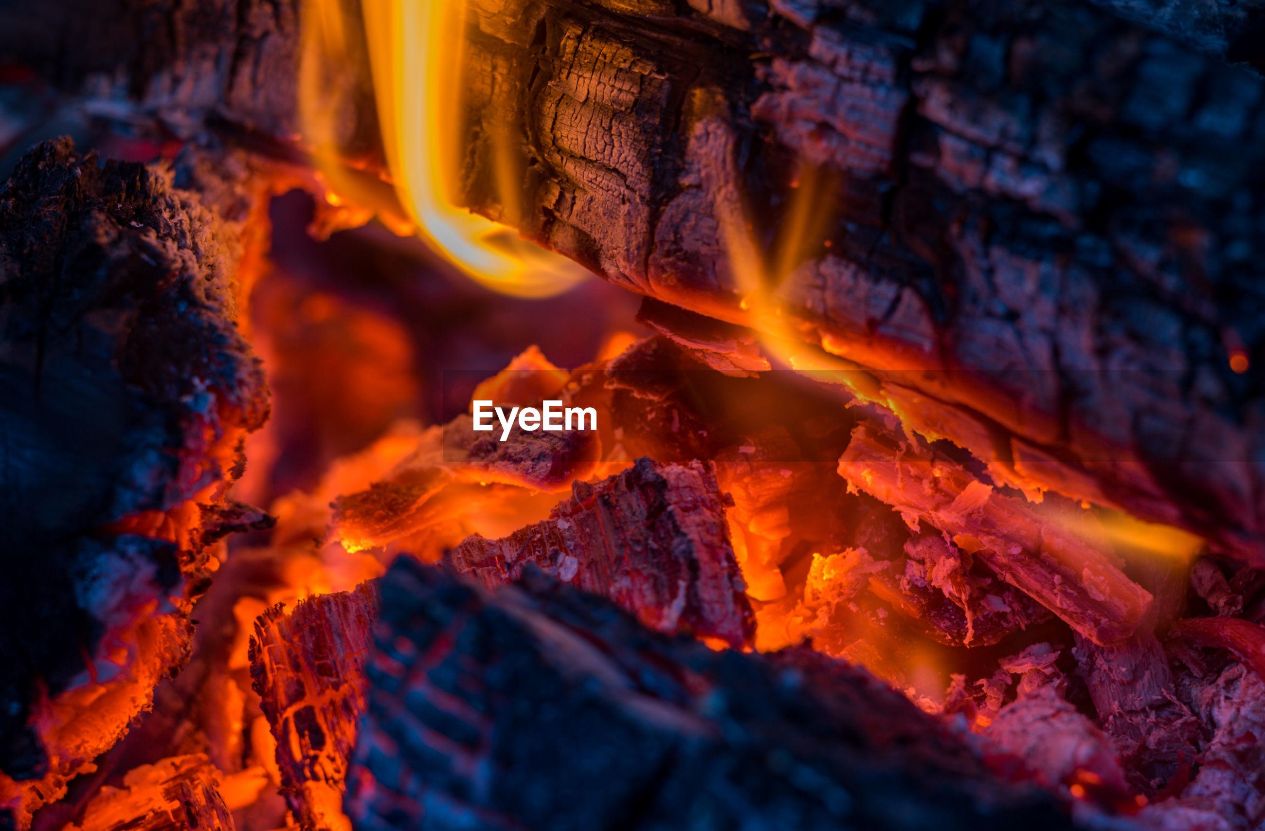 Full frame shot of fire