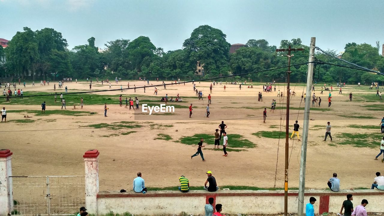 People playing on field