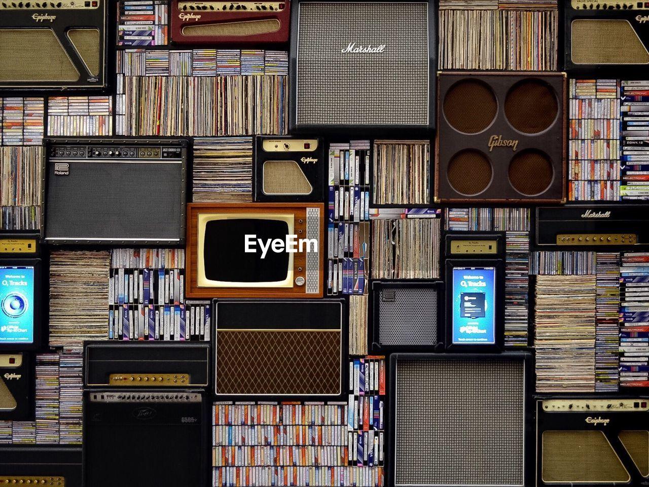 Full Frame Shot Of Retro Objects