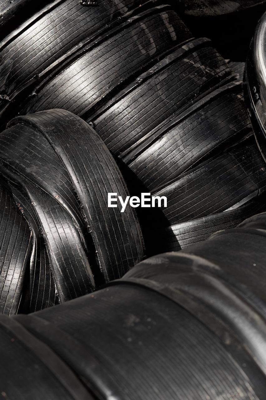 Full frame shot of tires
