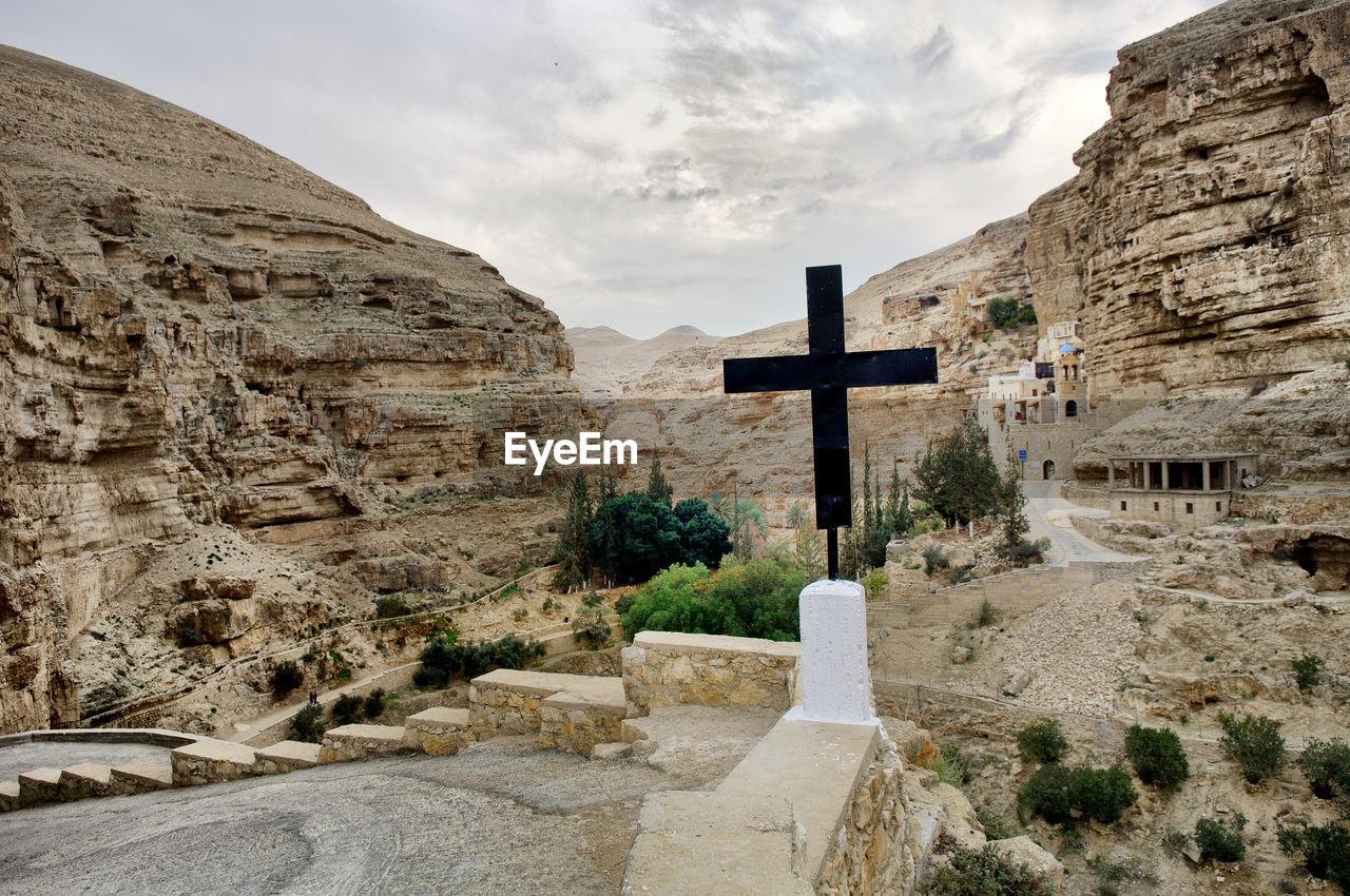 St George Monastery At Wadi Qelt Against Sky