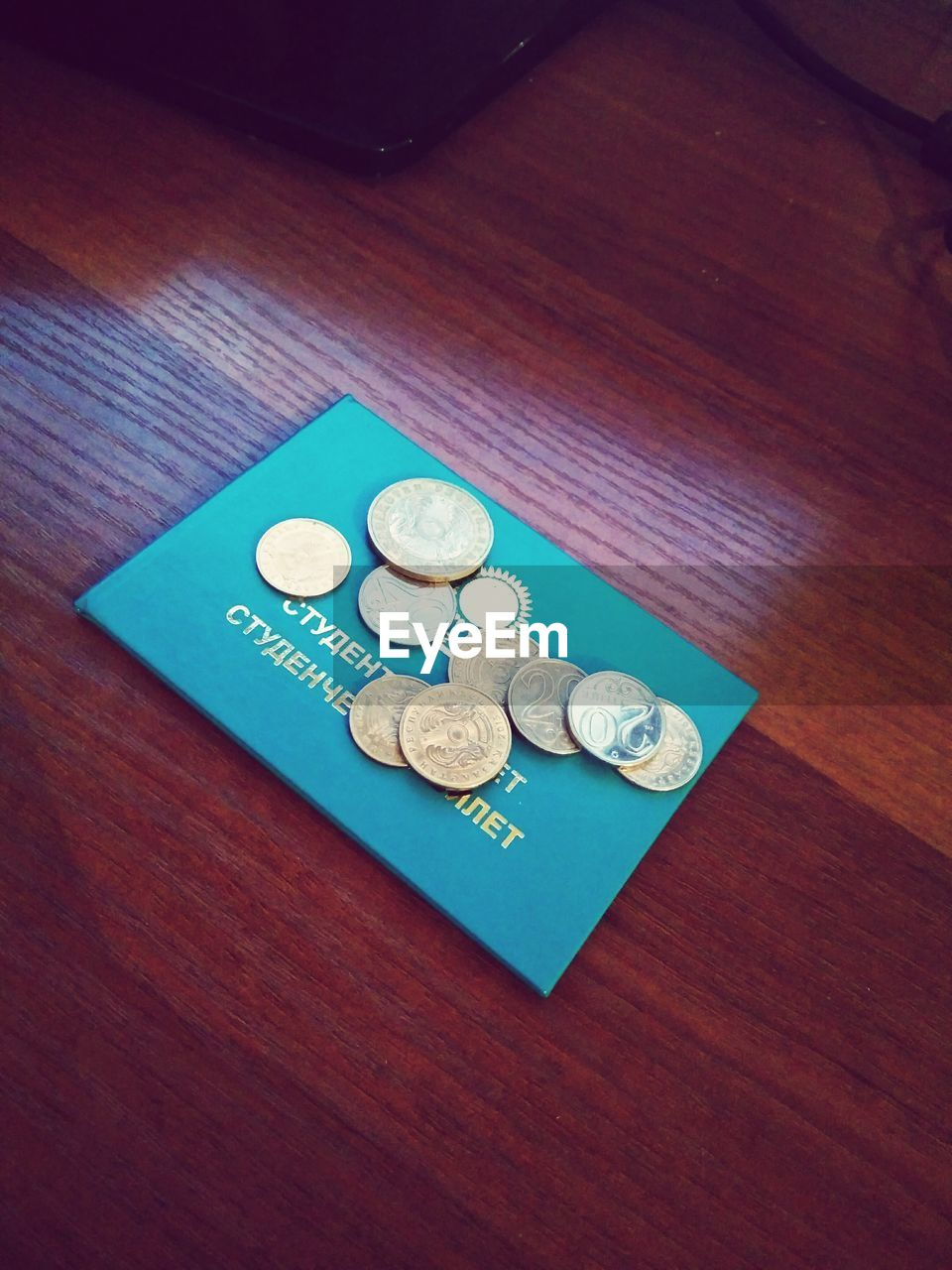currency, coin, finance, table, wealth, indoors, high angle view, paper currency, no people, savings, close-up, day