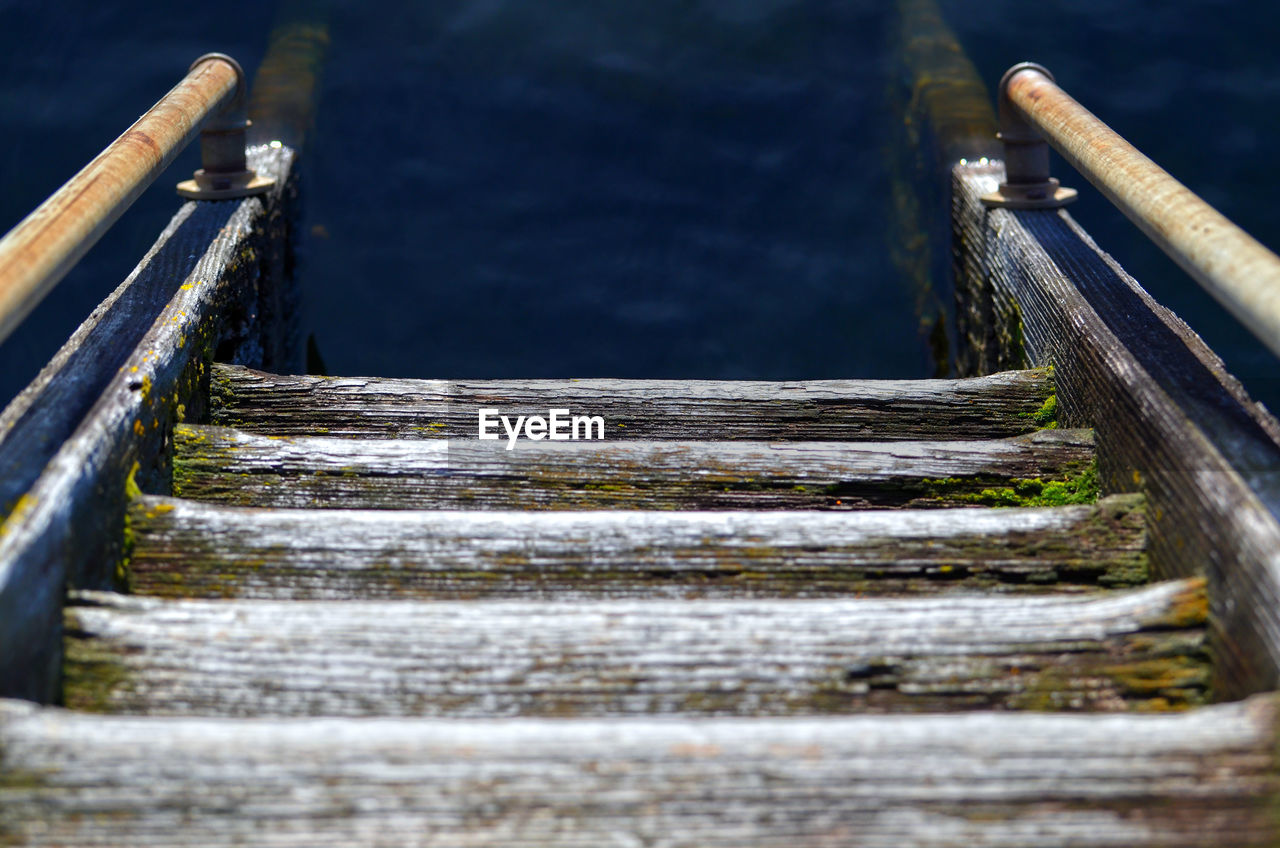 Wooden Steps Leading Towards River