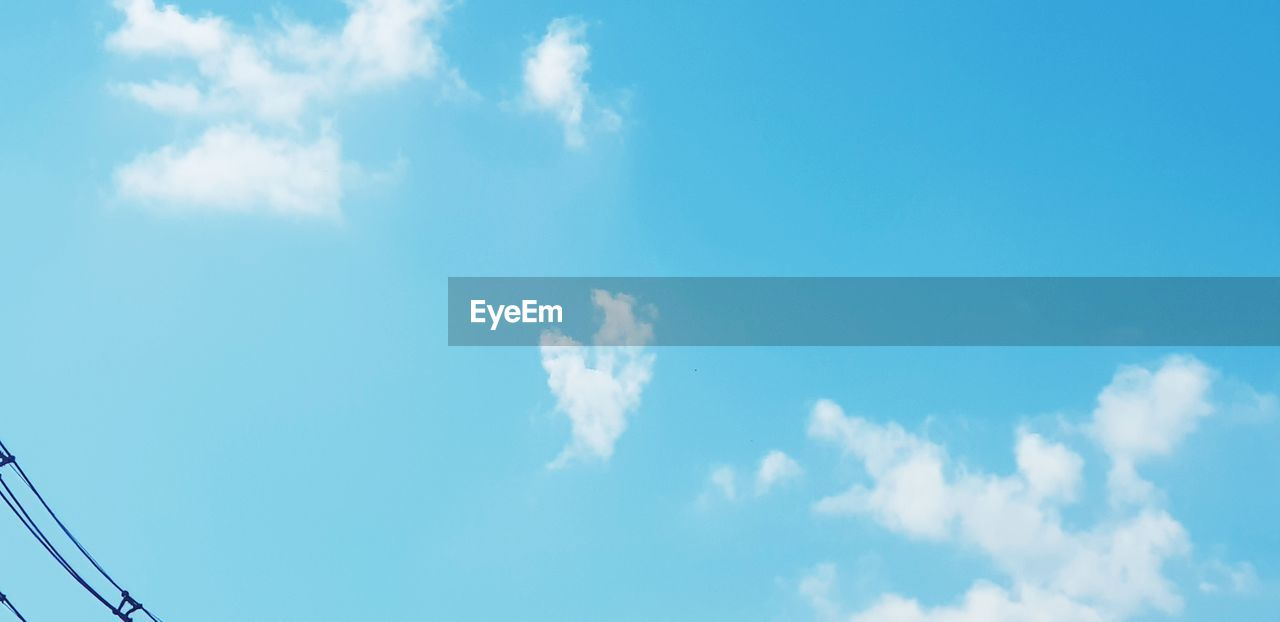 sky, cloud - sky, low angle view, blue, day, nature, beauty in nature, no people, outdoors, scenics, sky only