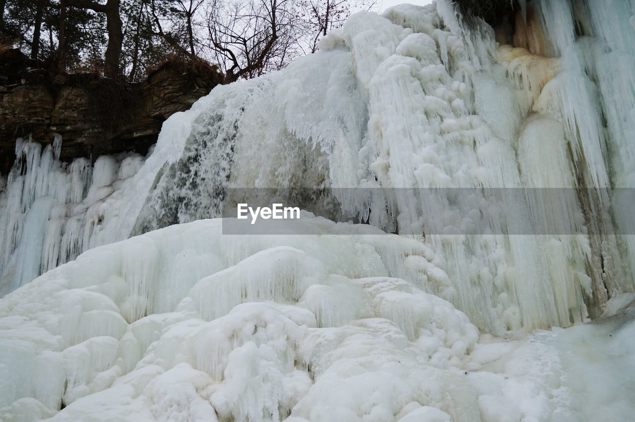 winter, cold temperature, snow, white color, nature, frozen, ice, beauty in nature, no people, day, waterfall, outdoors, water, close-up