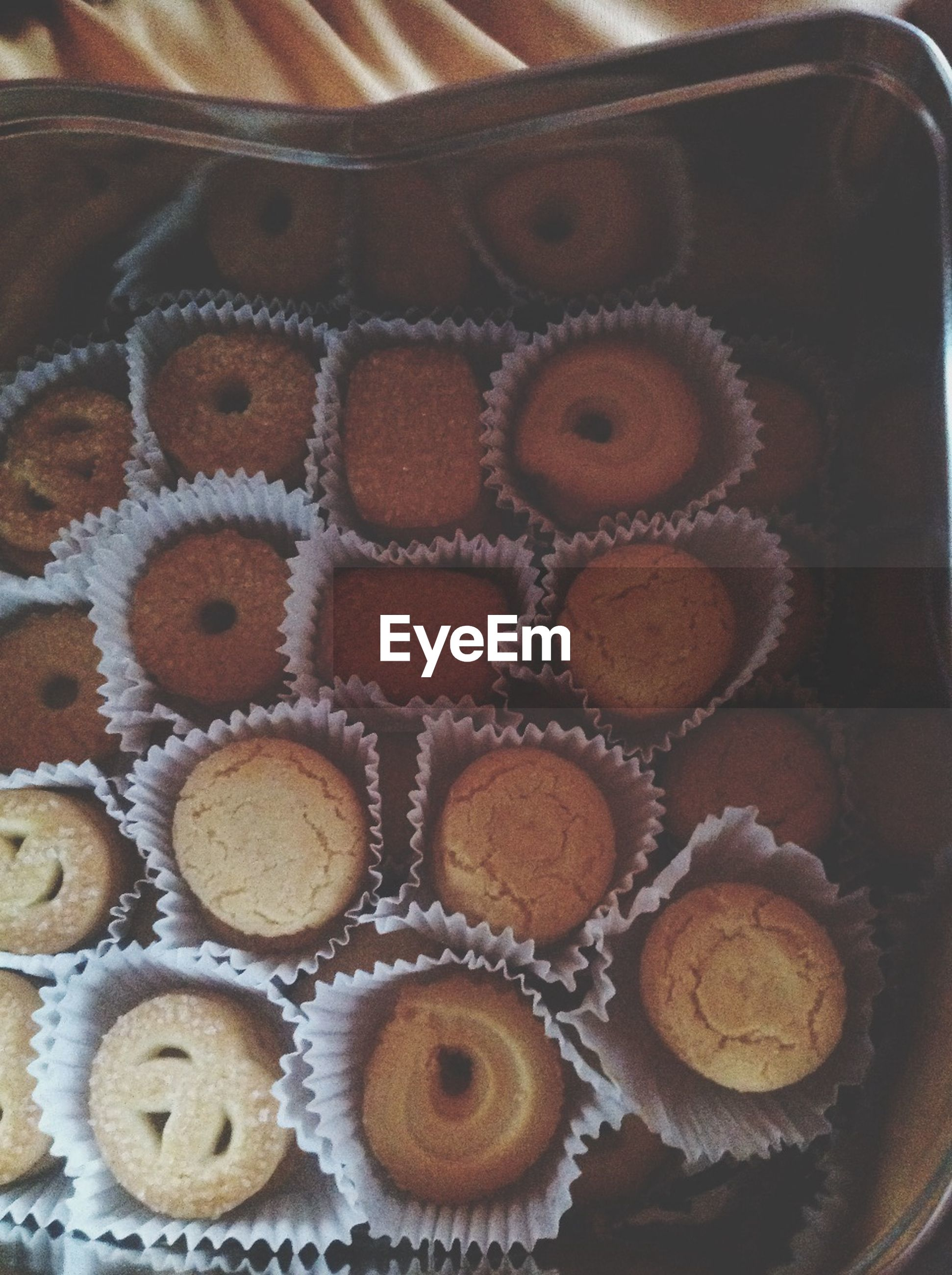 indoors, food and drink, food, sweet food, freshness, unhealthy eating, still life, dessert, indulgence, ready-to-eat, close-up, high angle view, baked, cake, temptation, pattern, no people, table, chocolate, in a row