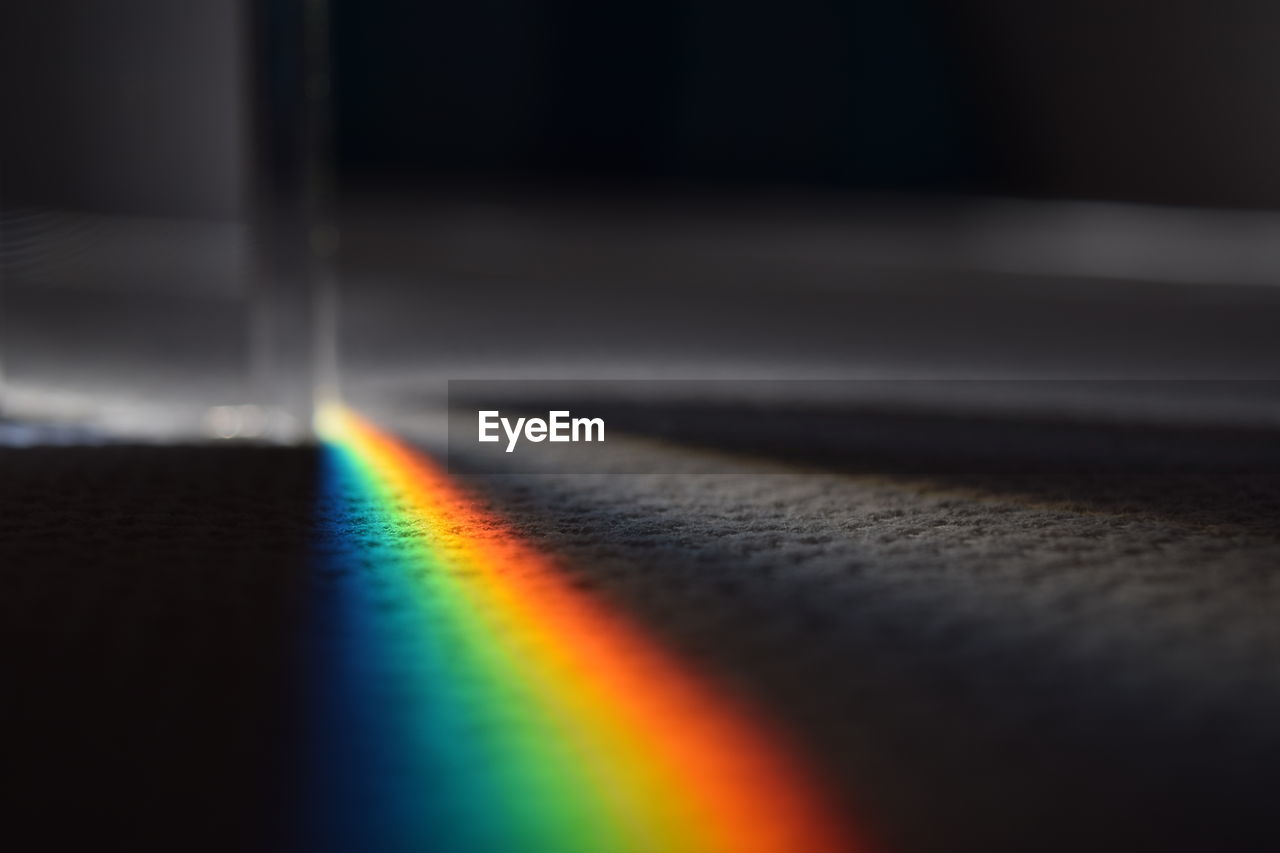 Close-Up Of Spectrum On Floor