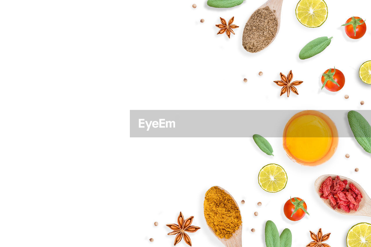 spice, star anise, ingredient, food and drink, food, cardamom, copy space, variation, anise, ginger, white background, no people, black peppercorn, healthy eating, indoors, freshness, close-up