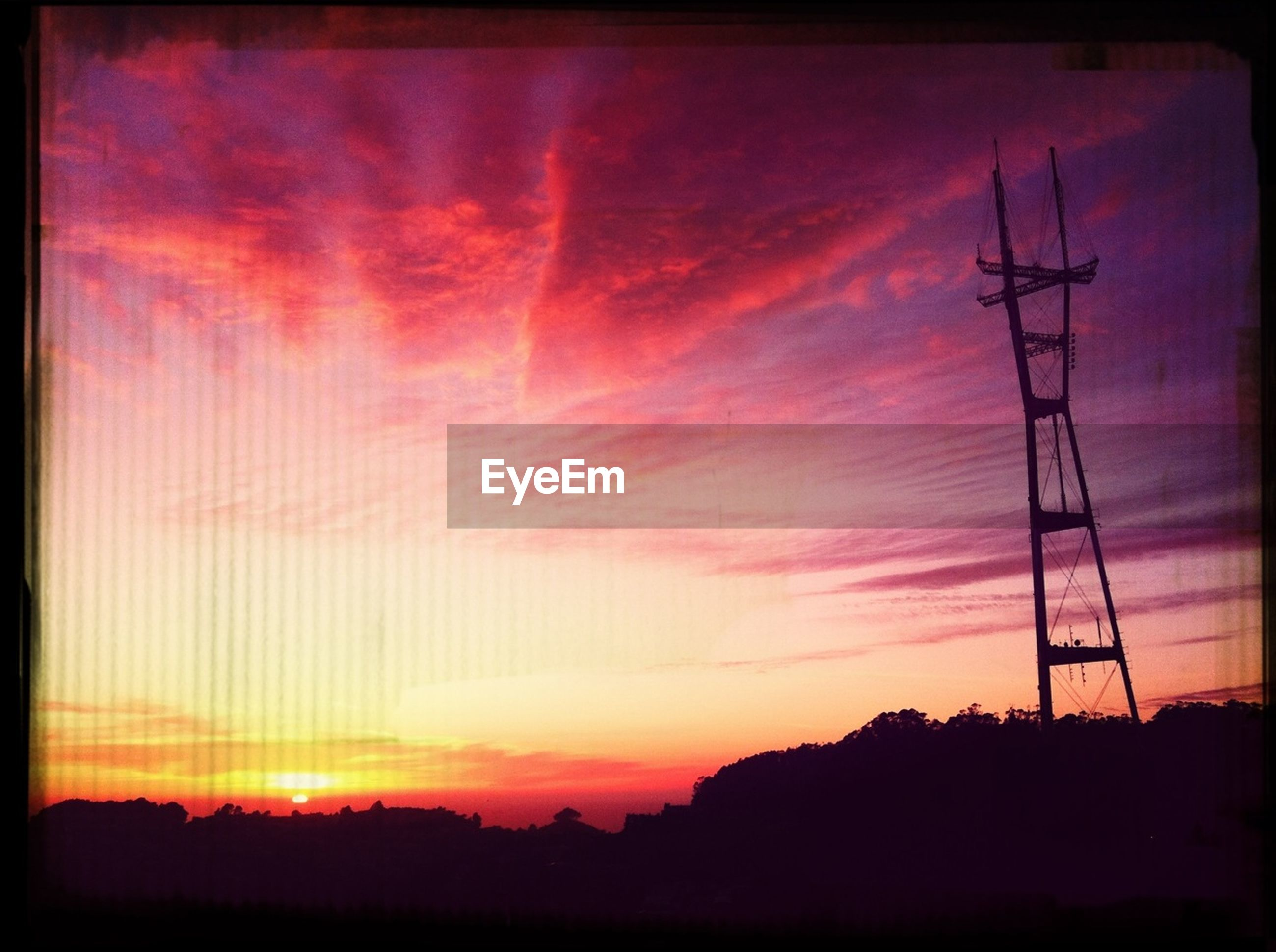 sunset, silhouette, sky, electricity pylon, power line, orange color, scenics, beauty in nature, electricity, tranquility, tranquil scene, power supply, technology, nature, transfer print, fuel and power generation, low angle view, sun, landscape, cloud - sky