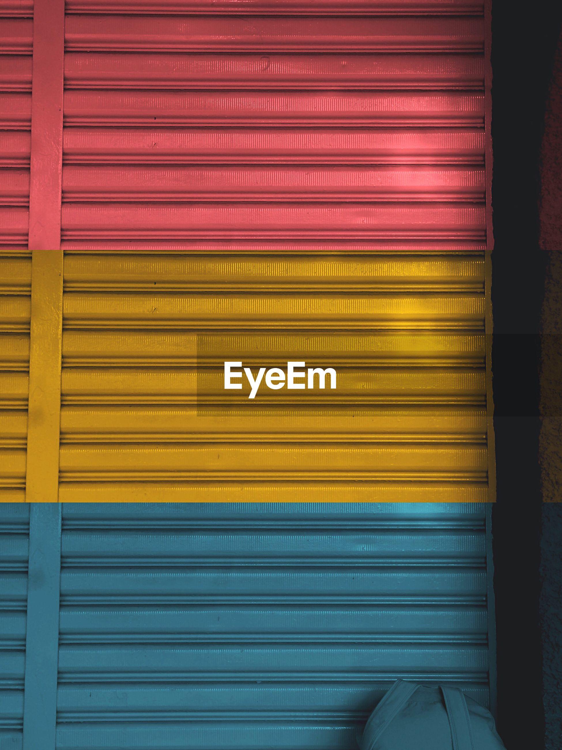 Full frame shot of multi colored shutter