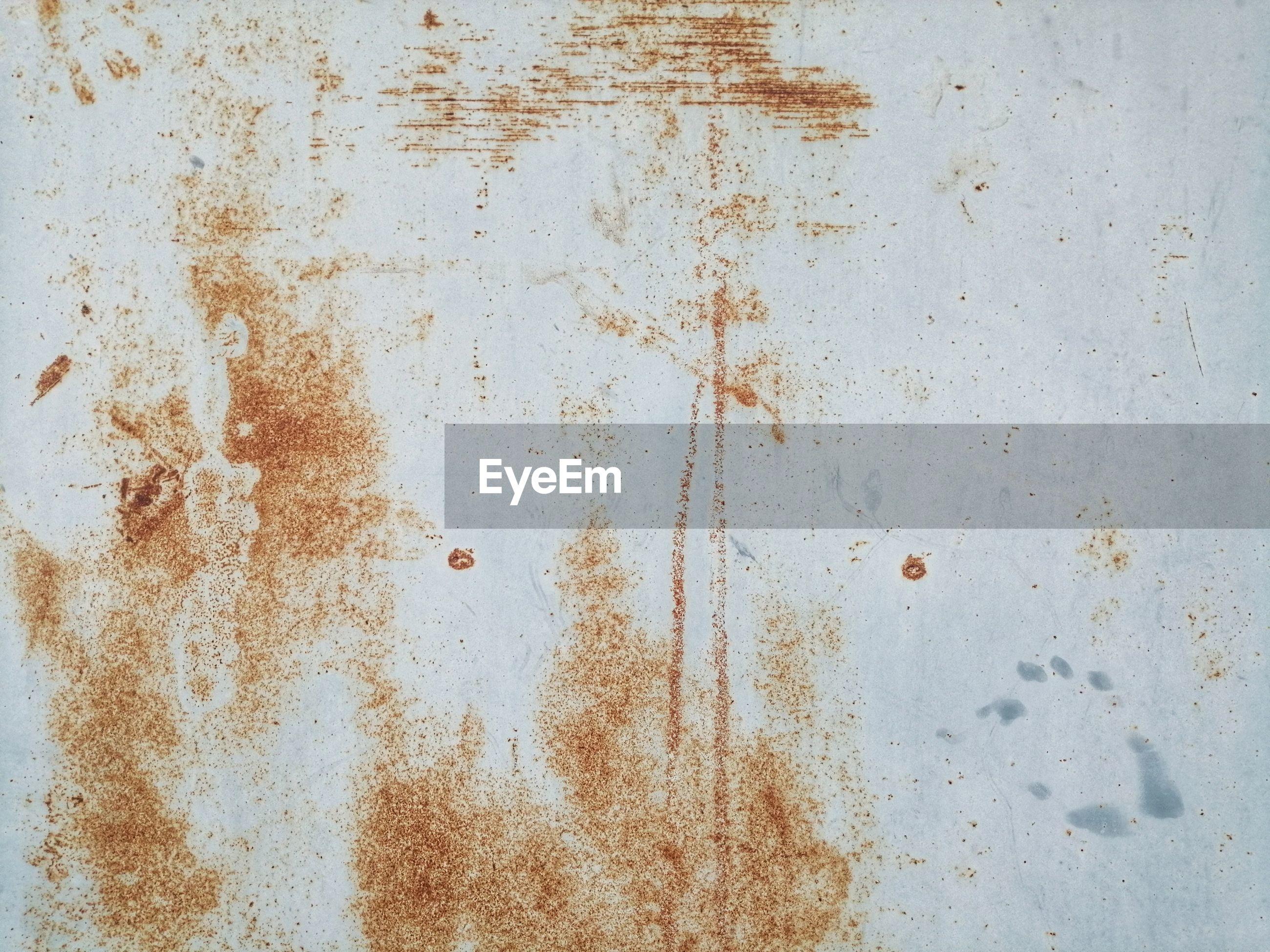 Rusty on metal sheet