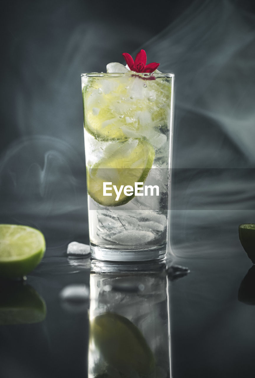 citrus fruit, glass, fruit, drink, drinking glass, alcohol, food and drink, refreshment, cocktail, household equipment, slice, lemon, food, freshness, cold temperature, no people, lime, close-up, healthy eating, transparent, herb, ice, mojito, mint leaf - culinary, tonic water