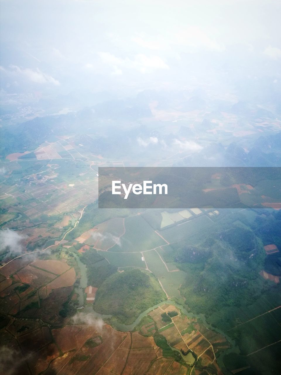 scenics - nature, environment, tranquil scene, beauty in nature, aerial view, tranquility, landscape, no people, cloud - sky, nature, sky, day, idyllic, agriculture, patchwork landscape, land, rural scene, field, outdoors, mountain, view into land