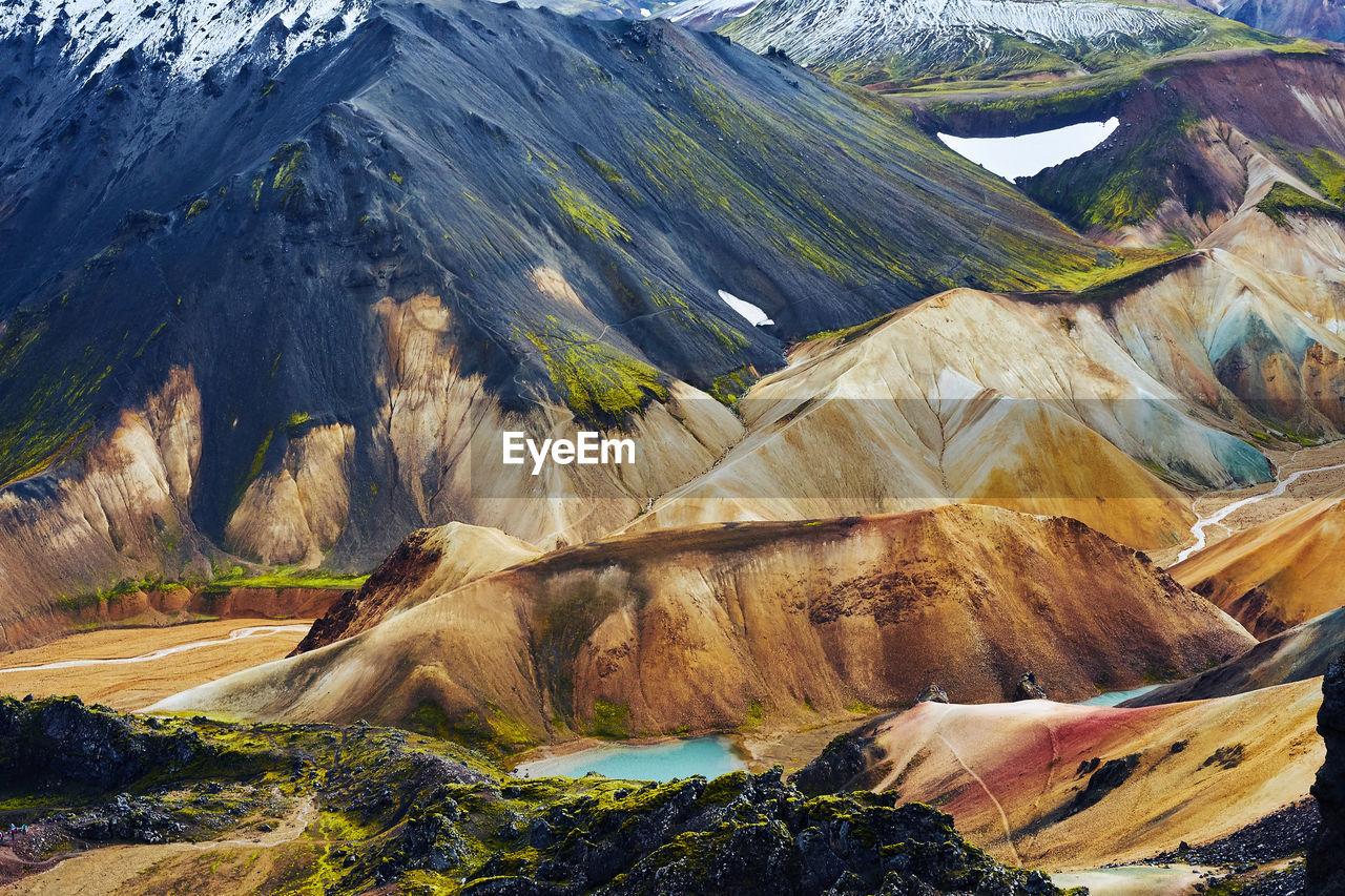 Close-up of rocky landscape