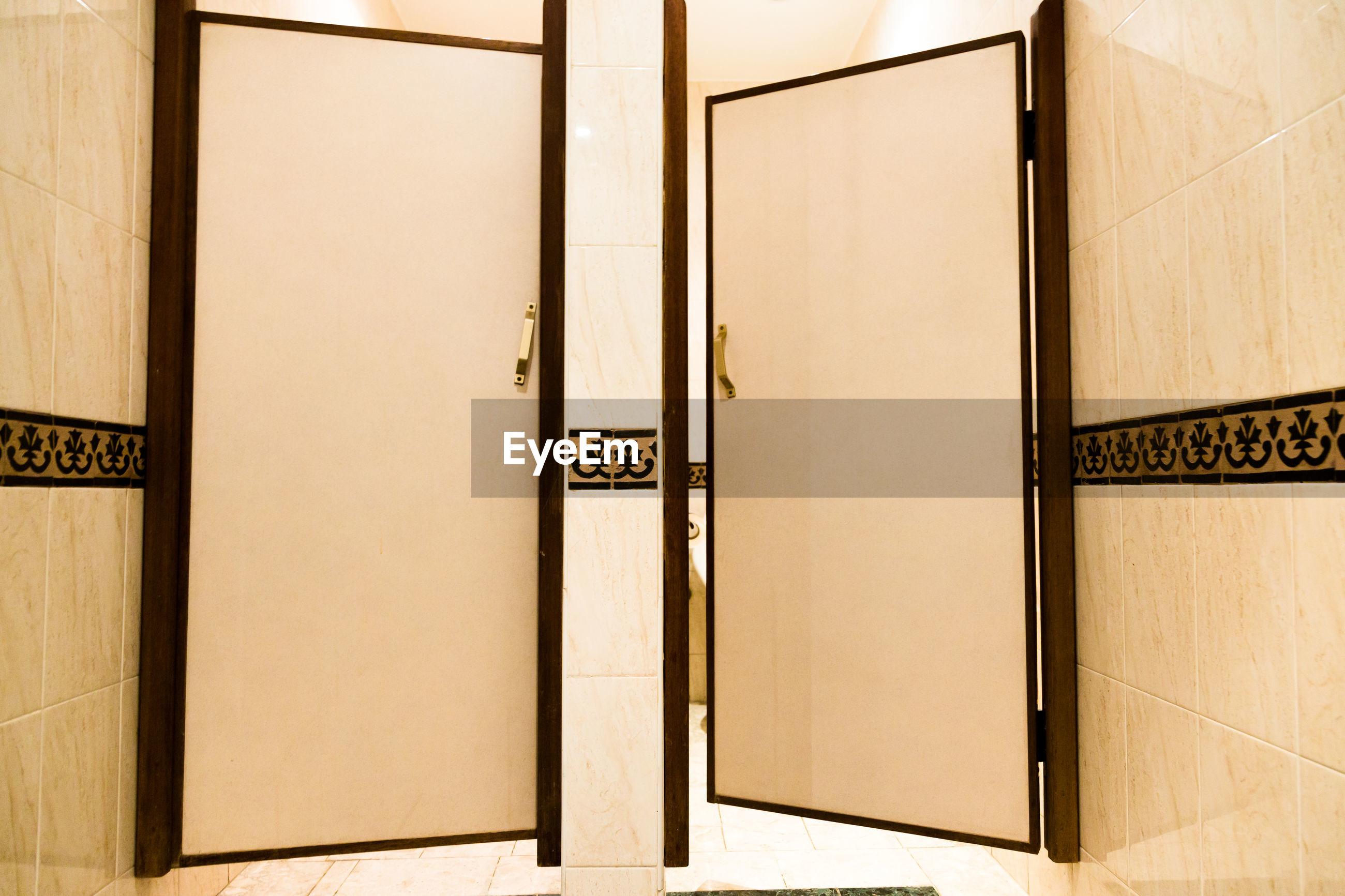 Doors at bathroom