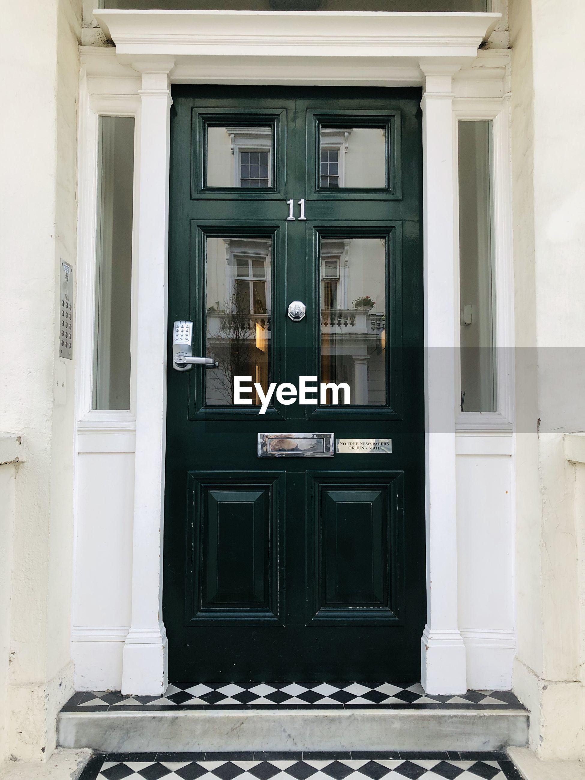 Green door in london