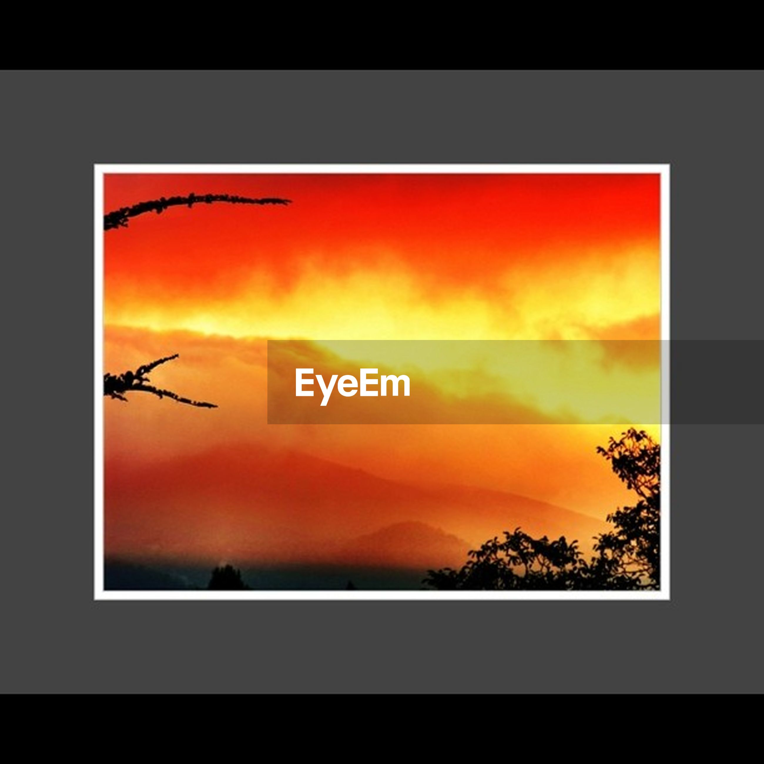 sunset, transfer print, orange color, silhouette, auto post production filter, sky, beauty in nature, scenics, nature, tranquility, idyllic, tranquil scene, cloud - sky, sun, dramatic sky, no people, red, dark, outdoors, romantic sky
