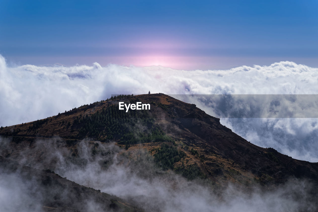 LOW ANGLE VIEW OF MOUNTAIN RANGE AGAINST SKY