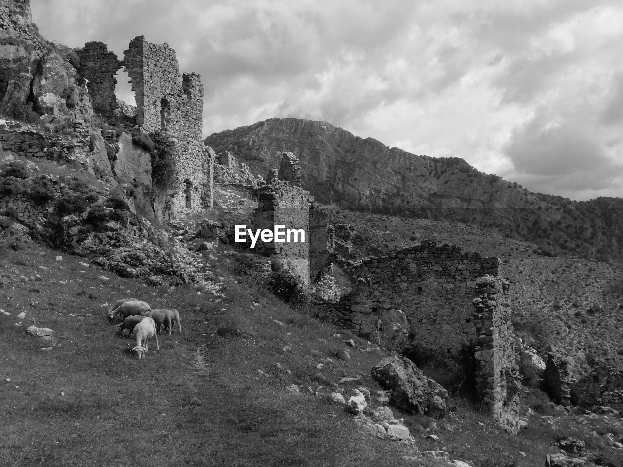 VIEW OF A RUINS