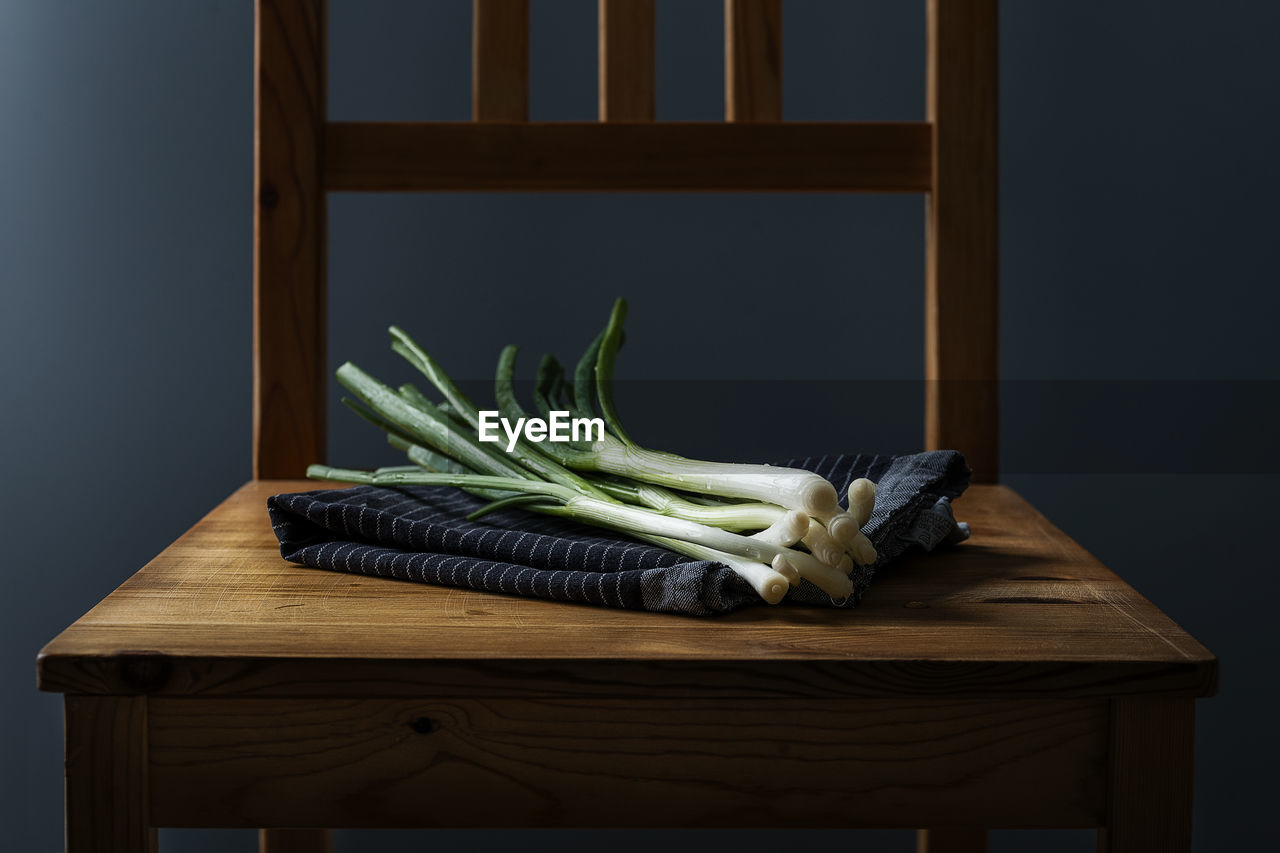 Vegetables On Wooden Chair