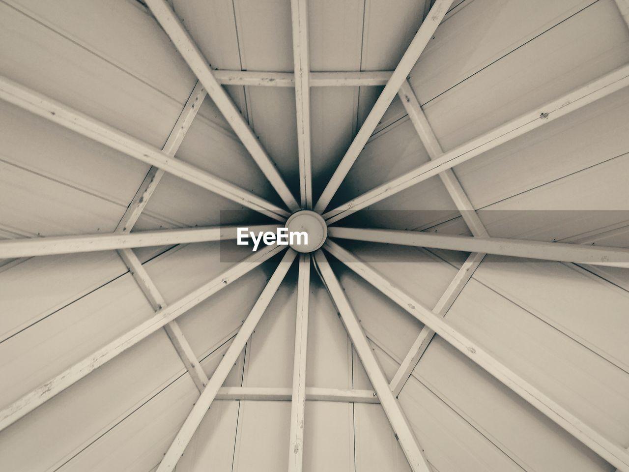 Directly Below Shot Of Ceiling In Gazebo