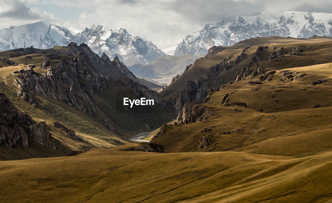 Majestic View Of Snowcapped Mountains