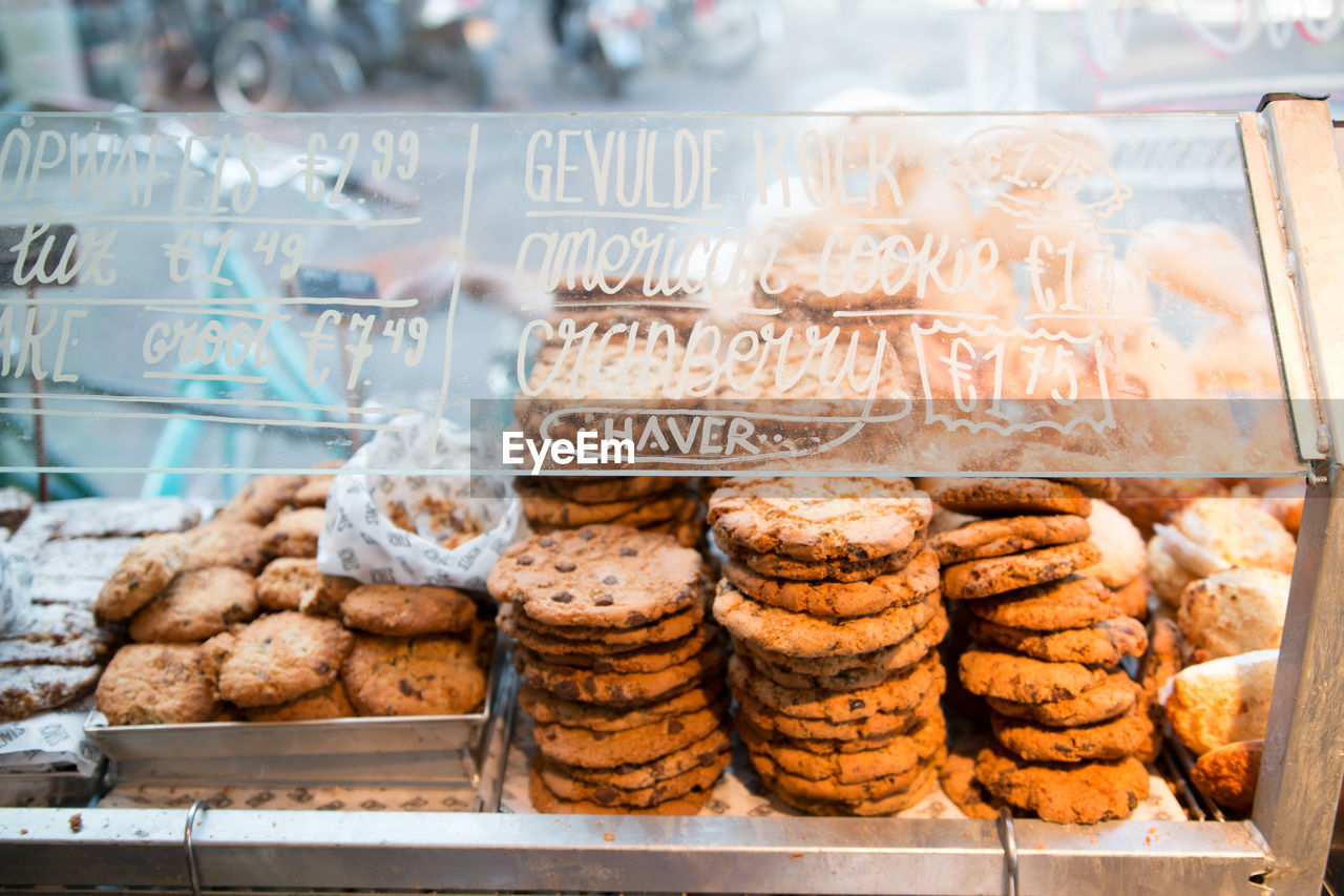 Close-Up Of Cookies For Sale In Store