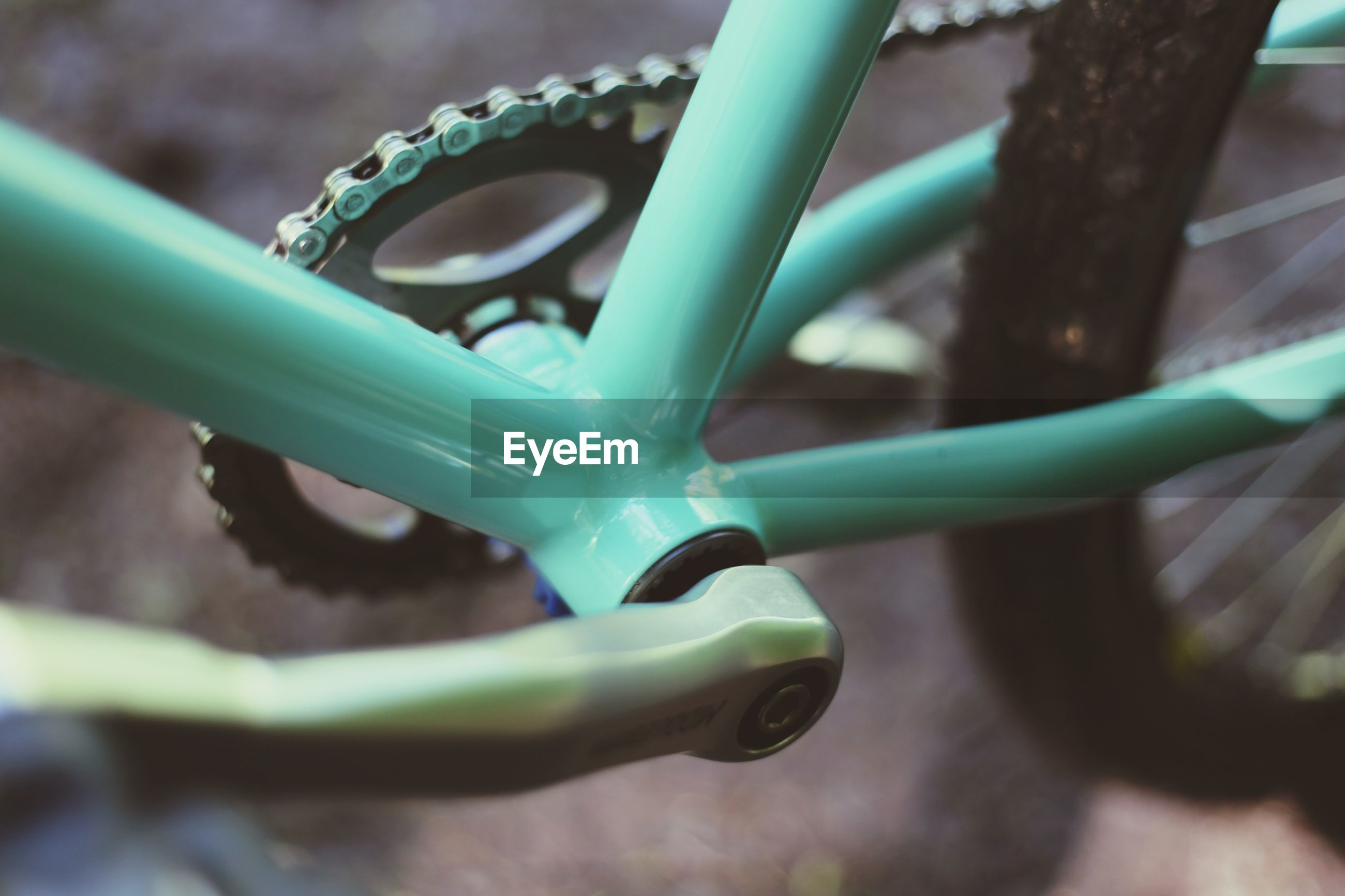 Close-up of bicycle frame
