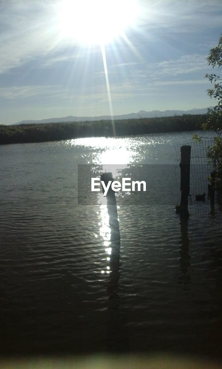 water, sunbeam, sun, sunlight, reflection, nature, lake, outdoors, sky, beauty in nature, sunshine, no people, day, swimming, tree