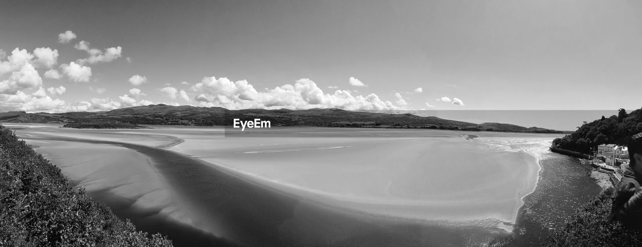 sky, scenics - nature, cloud - sky, water, beauty in nature, day, tranquil scene, nature, tranquility, land, beach, sea, mountain, no people, non-urban scene, outdoors, idyllic, environment, panoramic, lagoon